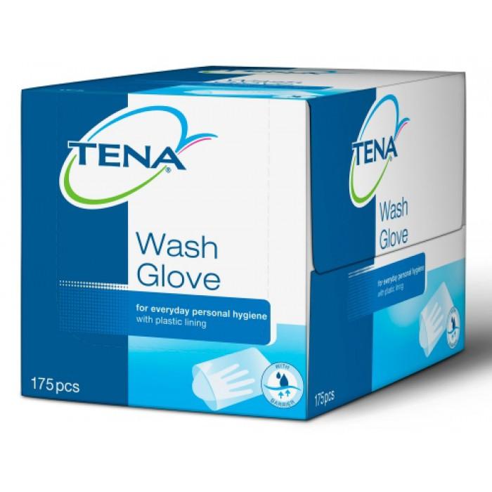 gants de toilette à usage unique wash glove tena tena 740500 : mat